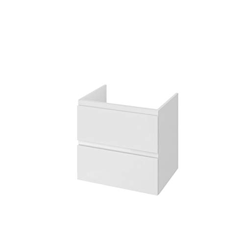 VBChome Moduo Unterschrank 50cm weiß Slim 49,4 cm x 34,5 cm x 62 cm ohne Waschbecken