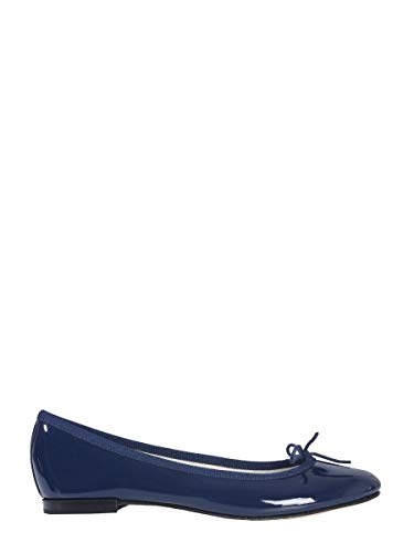 Repetto Luxury Fashion Damen V086V851 Blau Leder Ballerinas | Herbst Winter 20