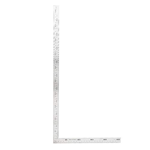 Regla de ángulo Acero inoxidable Regla de ángulo recto de 90 grados Herramienta cuadrada de medición(500mm*250mm)