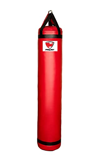 PROLAST Muay Thai Heavy Bag - 6 ft 150 lb - Filled (Red and Black)