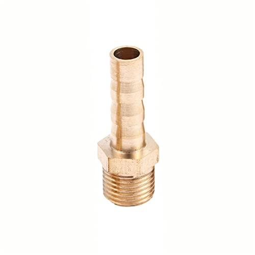 Zmaoyun-Tubos de latón 5pc Tubo de latón ajustado 6 mm 8 mm 10 mm 12 mm 16 mm Cola de la manguera de la manguera de 1/8 '1/4' 1/2 '3/8' Conector de rosca masculino Adaptador de acoplador, Material de