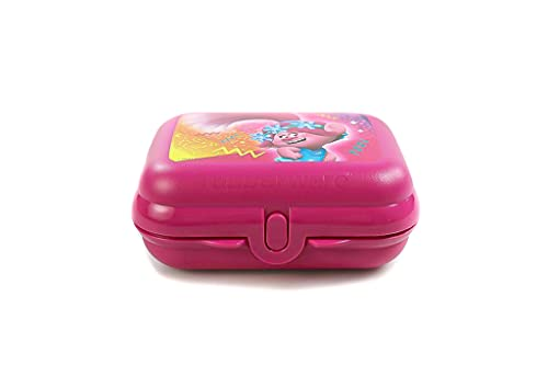 Tupperware To Go Twin Trolls Troll Zwerge Pink Girls - Fiambrera para niña, para guardería y escuela, tamaño 2