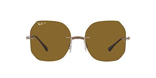 Ray-Ban 0RB8067 Gafas, BROWN ON LIGHT BROWN, 57 Unisex Adulto