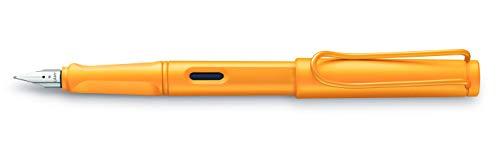 LAMY safari candy Füllhalter 021 – Moderner Füller in der Farbe Mango mit ergonomischem Griff und zeitlosem Design – Federstärke M - Sondermodell