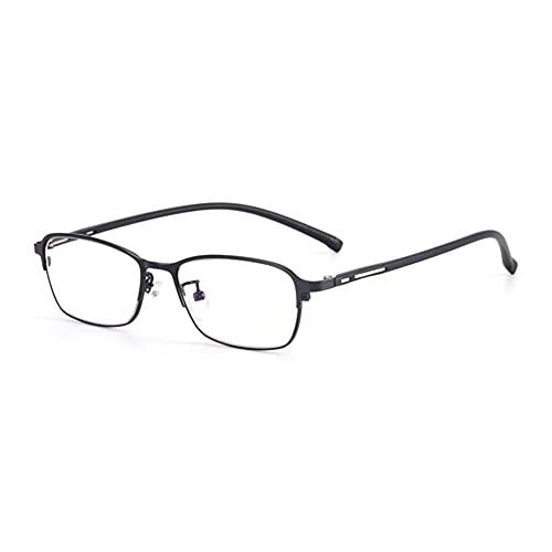 HQMGLASSES Gafas de Lectura de computadora Anti-Azules para Hombres, Lector de Aumento de Lente de Resina de Alta definición para Mujeres dioptrías +1.0 a +3.0,Negro,+2.75