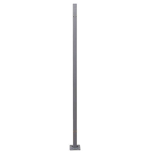 SONGMICS Standpfosten für Markisenkasten, Haltestange für Einzel-Seitenmarkise, Keine Wandmontage der Markise erforderlich, Markisenzubehör für die Bodenmontage, 11,5 x 11,5 x 152 cm, grau GSA002