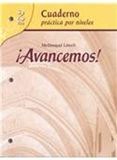 By MCDOUGAL LITTEL ?Avancemos!: Cuaderno: Practica por niveles (Student Workbook) with Review Bookmarks Level 2 (Spanis (Pck Pap/Cr)