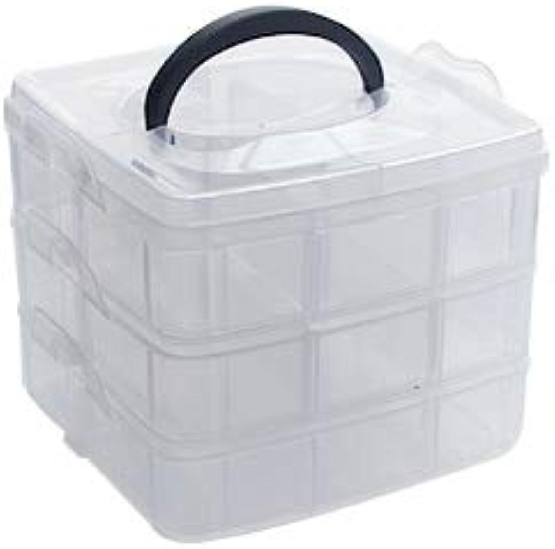 Onizah - 15 Grids Kunststoff Multifunktions Washi Tape Storage Box Scrapbook DIY Learning Büro-Artikel und Briefpapier [18 Lateice] B07KYL6X59       Förderung