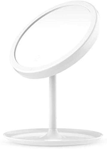 CZYNB Espejo for el Maquillaje LED Maquillaje Magnificación Magnificación Vanity compone, Interruptor de Pantalla táctil, 90 Grados Rotación Gratis Viaje de Bolsillo Compacto Compacto