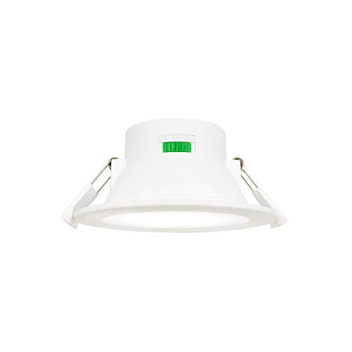 Dimmbare LED Einbauleuchten Einbaustrahler Flach Ohne Trafo Einbauen Lichtfarbe Einstellbar 10W AC220-240V Deckenloch Φ90-105MM IP44 für Küche Badezimmer 1er Pack von Enuotek