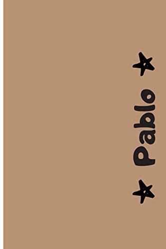 Pablo: Cuaderno Con Portada Personalizada | Diario con 110 Páginas | Regalo Perfecto Para el Colegio, Trabajo o Universidad | Tamaño Mediano 15x22.86 cm