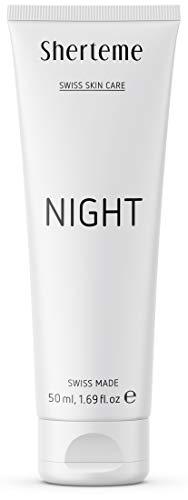 Sherteme NIGHT Feuchtigkeitscreme | 1x50ml Gesichtscreme für Männer und Frauen | Nachtcreme mit Retinol und Hyaluronsäure | Anti Falten Creme & Anti Pigment Effekt | gegen Hautalterung | SWISS MADE