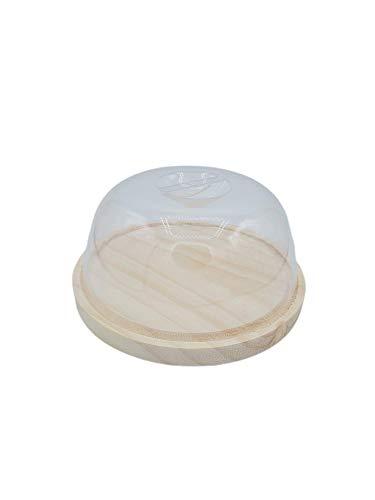 Quesera Para Nevera Redonda | Recipiente Para Conservar y Cortar Queso | Guarda Embutidos Con Tapa De Plástico