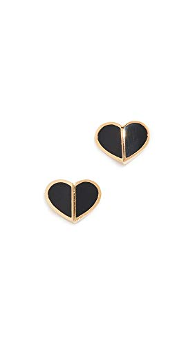Kate Spade New York Women's Heritage Spade Heart Stud Earrings, Black, One Size