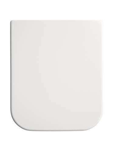 Gala G5164001 Tapa y Asiento Fijo para Inodoro Colección Emma Square, Acabado Blanco (Ref 51640), 38 x 5 x 45.5 cm