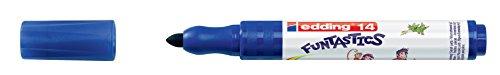edding Fasermaler Filzstifte e-14 FUNTASTICS, Blau, ca. 3 mm