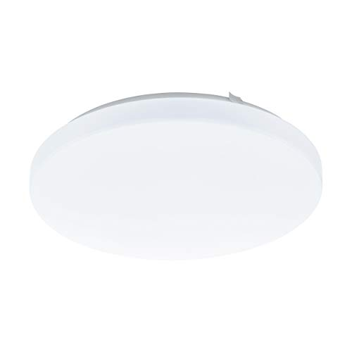 EGLO LED Deckenlampe Frania, 1 flammige Deckenleuchte, Material: Stahl, Kunststoff, Farbe: weiß, Ø: 33 cm