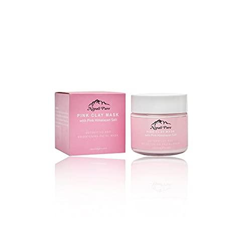 Máscara de arcilla de sal rosa del Himalaya