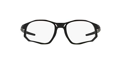 Oakley Ox8171 Trajectory - Gafas rectangulares para hombre, negro satinado/demo lente, 55 mm