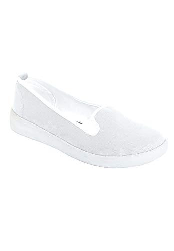 Comfortview Women's Wide Width The Dottie Sneaker - 10 W, White