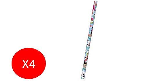 Mc Import Geschenkpapier Feste Geburtstagsfeier, 70 x 200 cm, 4 Stück, verschiedene Motive