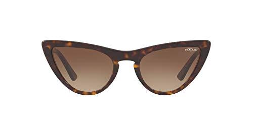 Vogue Eyewear Women's VO5211S Cat Eye Sunglasses, Dark Havana/Brown Gradient, 54 mm