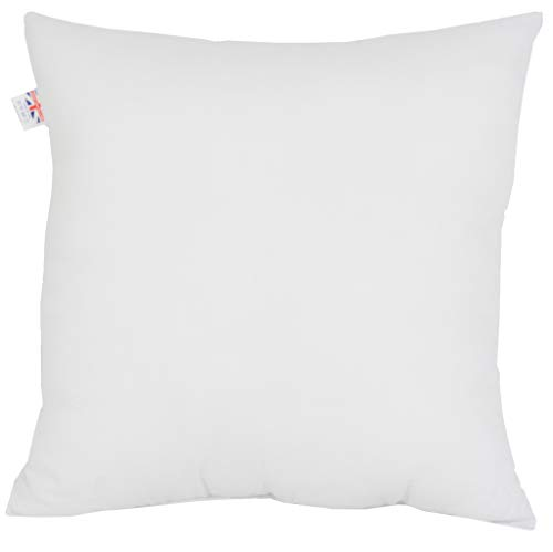 adsin Cushions Pads Hollowfibre Filled White 40cm x 40cm | 16' x 16' Twin Pack