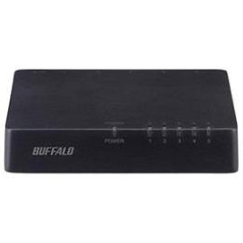 つかの間るインク【まとめ 4セット】 BUFFALO バッファロー 10/100Mbps対応スイッチングHub プラスチック筐体/電源外付けモデル(5ポート) ブラック LSW4-TX-5EPL/BKD
