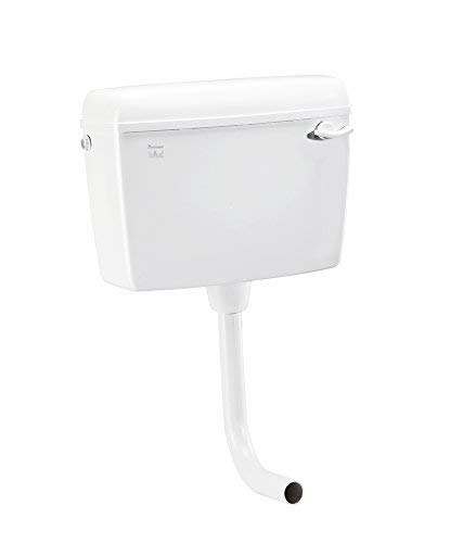 Parryware Slimline Standard Single Flush Cistern - E82971C (Polypropylene, White)