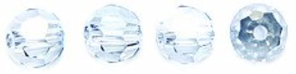 SWAROVSKI ELEMENTS Swarovski 5000 Faceted Round Crystal Beads, 4-mm, Blue Shade