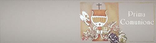 Cartotecnica Italiana - 100 tarjetas de recuerdo de primera comunión, unisex, detalles impresos en color dorado, formato A4