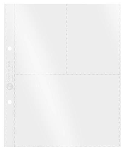 KuschelICH Sammelhüllen für DIN A5 Ordner - 2 Taschen DIN A5 10x15 cm & 4 Taschen DIN A6 10,5x7,5 cm - transparent, dokumentenecht, PP, 10 Stück, für Post-Karten, Fotos, Dokumente