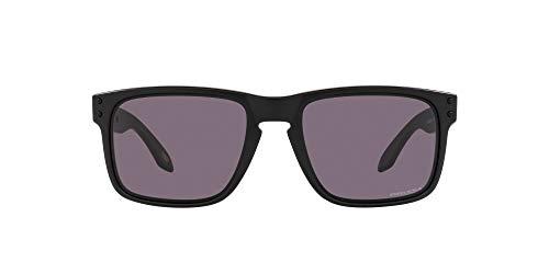 Oakley Men's OO9102 Holbrook Square Sunglasses, Matte Black/Prizm Grey, 57mm