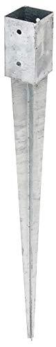 GAH-Alberts 211295 Einschlag-Bodenhülse | für Rund- oder Vierkantholzpfosten | feuerverzinkt | 71 x 71 mm | Gesamtlänge 900 mm