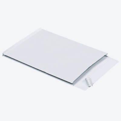 100 MAILmedia Faltenversandtaschen C4 / ohne Fenster / Faltenbreite 2,0 cm / selbstklebend / weiß