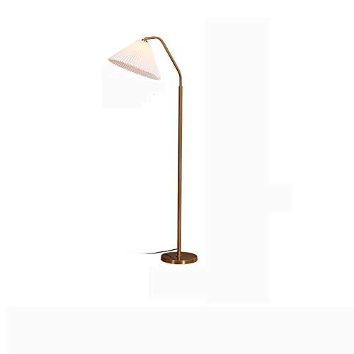 Lámpara De Piso Lámparas de pie de brazo largo, lámpara de estar de pie retro americano dormitorio dormitorio lámpara de noche interior luz de hierro arte decoración creativa piso luz E27 lámpara base