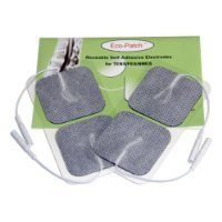Premium Electrodes 10 Packs of 4 Electrodes Each with Preferred Comfortable White Cloth with Covidien Gel Adhesive for Multiple Application by Eco-Patch