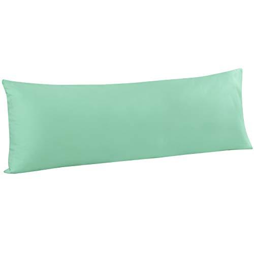 FLXXIE 1 Pack Microfiber Pillowcase, Envelope Closure, Ultra Soft and Premium Quality, 20' x 54' (Sea Green, Body)