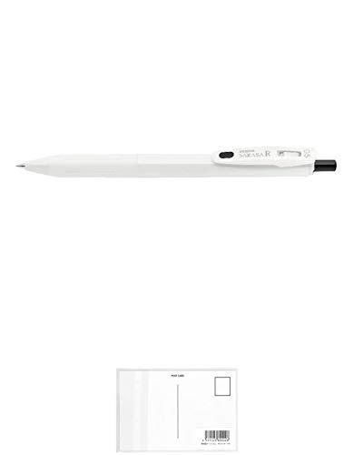 ゼブラ サラサ R 0.5 白/黒 ジェルボールペン JJ29-R1-BK2 + 画材屋ドットコム ポストカードA