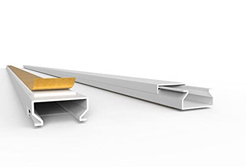 SCOS Smartcosat - Canalina passacavi autoadesiva, in PVC e plastica, montaggio a parete, adatta a tutti gli usi, Bianco