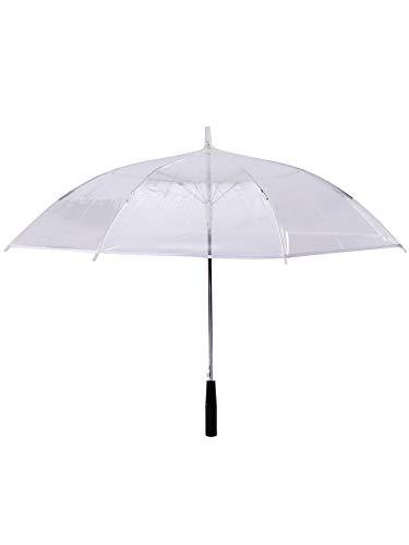 Grau.zone - Paraguas LED transparente, luz de colores, linterna integrada