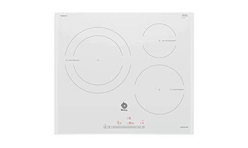 Balay 3EB965BU - Placa de inducción, Zona gigante 28 cm, Función Sprint, Control Deslizante, Color Blanco
