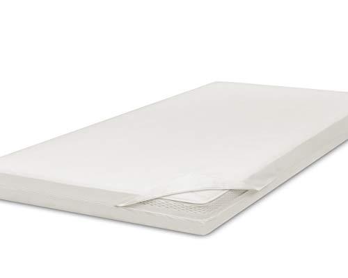 allsana Allergiker-Matratzen-Bezug 200x200x8cm für Topper Anti Milben Encasing