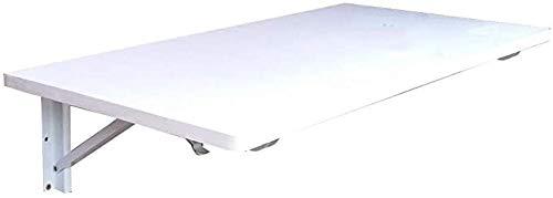 Mesa plegable pared mesa plegable montada Idea simple Mesa de pared Mesa simple Idea simple portátil Escritorio Plegable Doble Apartamento Mesa de comedor Balcón Estante, Blanco, 13 Tamaños, Blanco, 9