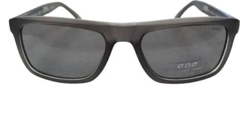 Italy NO LOGO Occhiale da sole polarizzato unisex - adulto art.9801, montatura in celluloide grigio con lente grigia. Forma rettangolare