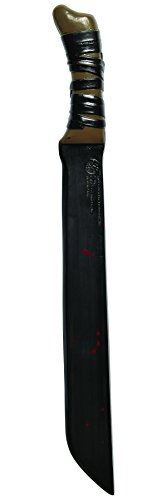 Friday The 13th Jason Voorhees Costume Accessory Machete, Brown, One Size