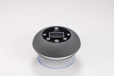 TSP Badezimmer Radio Soundsäule Wasserdicht Bluetooth Lautsprecher Wireless Uhr Subwoofer FM Radio Karte Subwoofer Musik Center Dusche Lautsprecher Wasserdicht Dusche Lautsprecher (Farbe: Schwarz)