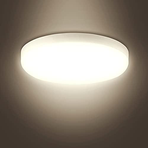 Combuh LED Plafoniera Moderna Lampada LED 20W 1600LM 4000K Luce Bianco Naturale Impermeabile IP56 il giro Plafoniere da Soffitto per Cucina Bagno Camera Corridoio
