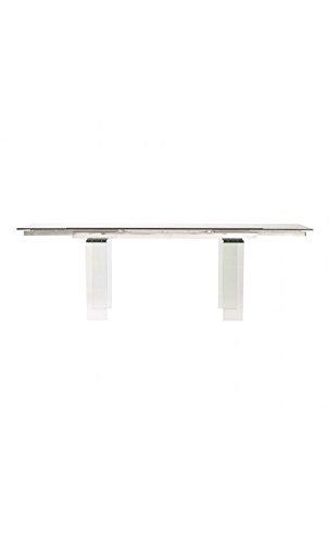CAMINO A CASA - Table à rallonges Verre rectangulaire Cristal 160-240 cm
