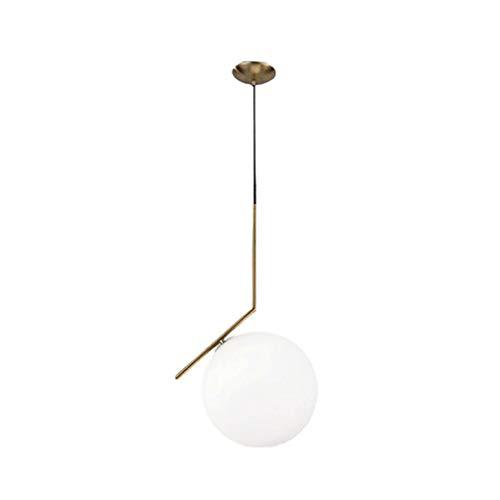 YaoXI Creatieve woonkamer plafondlamp slaapkamer kaarsenhouder glazen bol winkel decoratie ring goud eenvoudig restaurant licht oorbellen